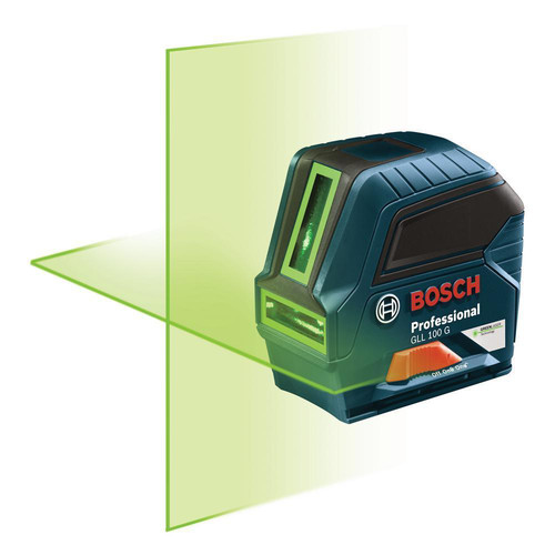 Factory Reconditioned Bosch GLL100GX-RT Self-Leveling Cross Line Laser (Green)