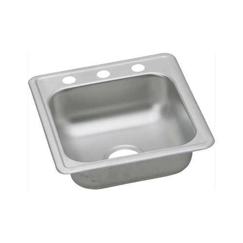 Elkay D117193 Dayton Drop In 17 in. x 19 in. Single Basin Kitchen Sink (Stainless Steel)