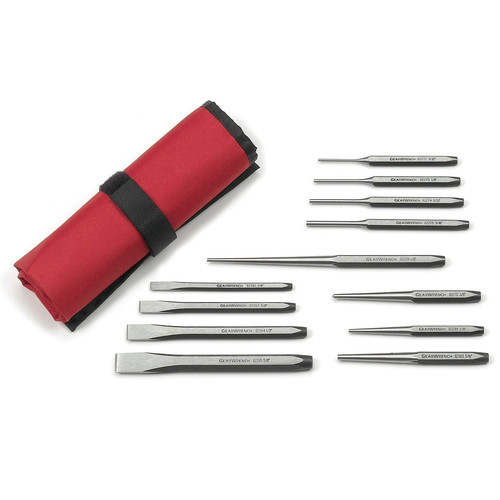 GearWrench 82305 12-Piece Punch & Chisel Set