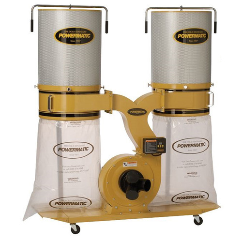 Powermatic PM1300TX-CK3 Dust Collector, 3HP 3PH 230/460V, 2-Micron Canister Kit