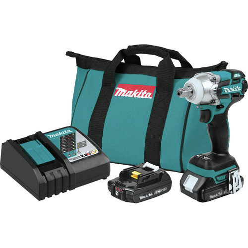 Makita XWT11R XWT11R 18V LXT Lithium-Ion Compact Brushless Cordless 3-Speed 1/2 in. Impact Wrench Kit (2.0Ah)