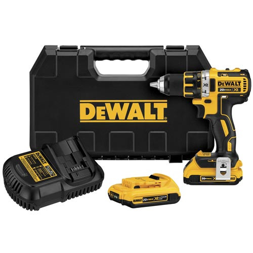 Factory Reconditioned Dewalt DCD790D2R 20V MAX XR Cordless Lithium-Ion 1/2 in. Brushless Compact Drill Driver Kit