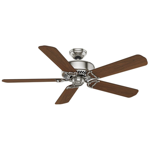 Casablanca 59511 54 in. Traditional Panama DC Brushed Nickel Walnut Indoor Ceiling Fan