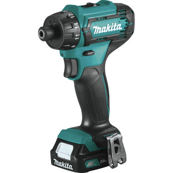 Makita FD10R1 12V max CXT Lithium-Ion Hex Brushless 1/4 in. Cordless Drill Driver Kit (2 Ah) image number 1