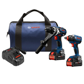 Bosch 18V Li-Ion Hammer Drill//Impact Driver Combo CLPK222-181 Reconditioned