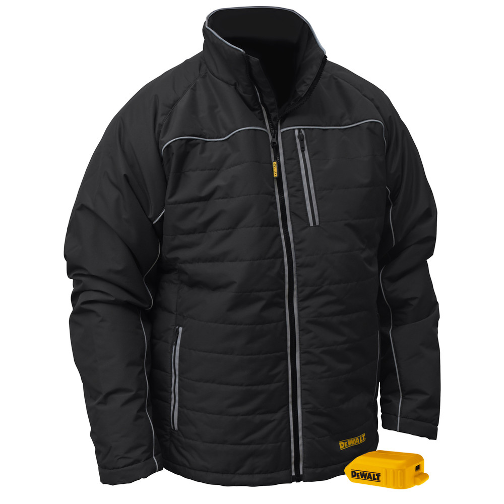 DeWalt DCHJ075B-L 20V MAX Black Mens Quilted/Heated Jacket L
