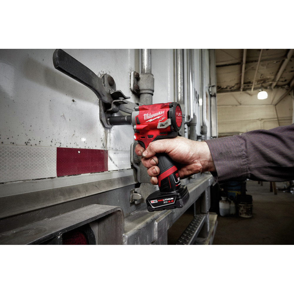 Milwaukee 2555-20 M12 FUEL Li-Ion 1/2 in. Stubby Impact Wrench (BT) New 4