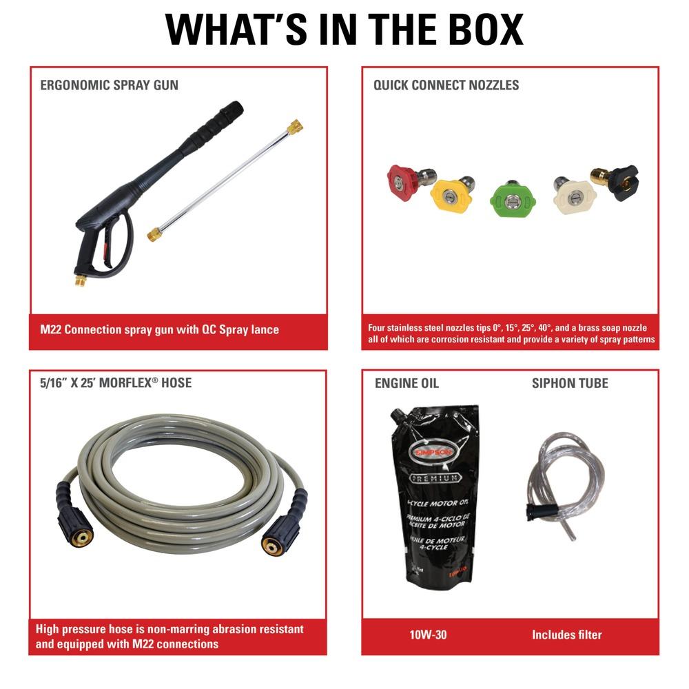thumbnail 2 - SIMPSON 60996 PowerShot 3600 PSI 2.5 GPM Pressure Washer New
