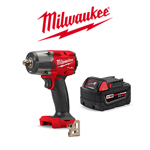 FREE Milwaukee M18 5.0Ah Battery