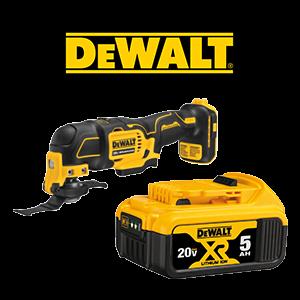 FREE DeWALT 20V MAX XR 5 Ah Battery