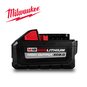 FREE Milwaukee M18 HIGH OUTPUT XC 8 Ah Battery