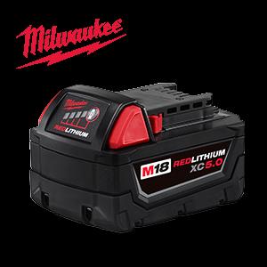 FREE Milwaukee M18 5 Ah Battery