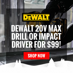 DeWalt 20V MAX Drill or Impact Driver for $99!