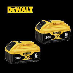 FREE DeWALT 20V MAX 6 Ah Battery (2-Pack)