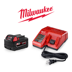 FREE Milwaukee M18 XC 5 Ah Battery and Charger Kit