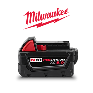 FREE Milwaukee M18 XC 5 Ah Extended Capacity Battery