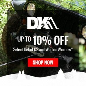 Up to 10% Off Select Detail K2 and Warrior Winches