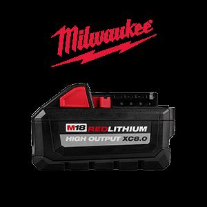 FREE Milwaukee M18 8.0 Ah Battery