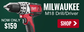 Milwaukee 2601-22 M18 Drill - $159