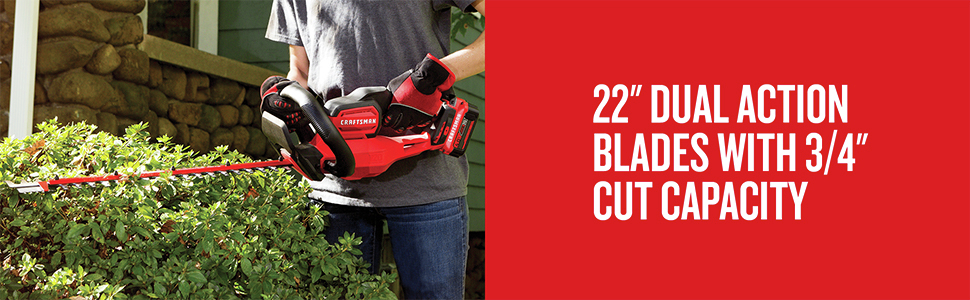 22 in. Dual Action Blades With 3/4 in. Cut Capacity