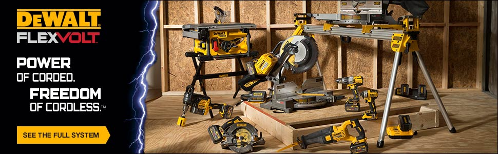 Dewalt FlexVolt tools provide the power of corded tools with the freedom of cordless