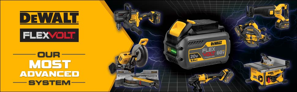 FlexVolt technology features automatic voltage switches depending on the tool used
