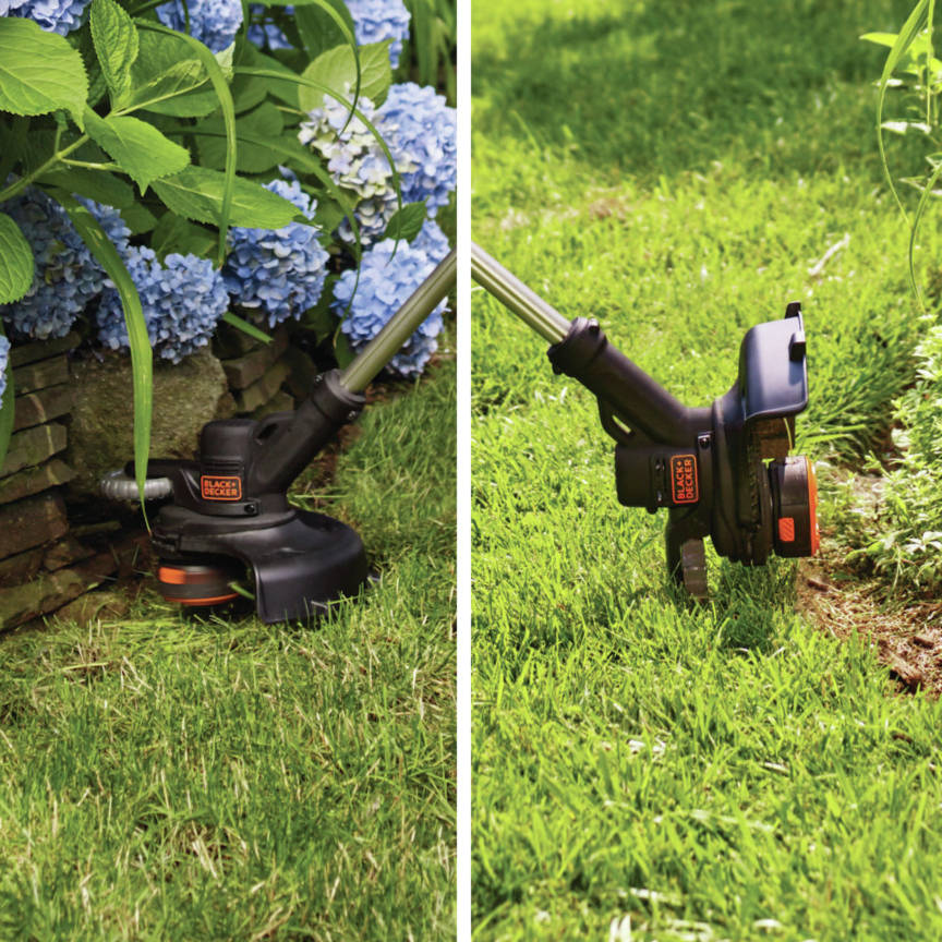 20V MAX 2-Speed 12 in. String Trimmer/Edger Kit easily converts from trimmer to wheeled edger in seconds