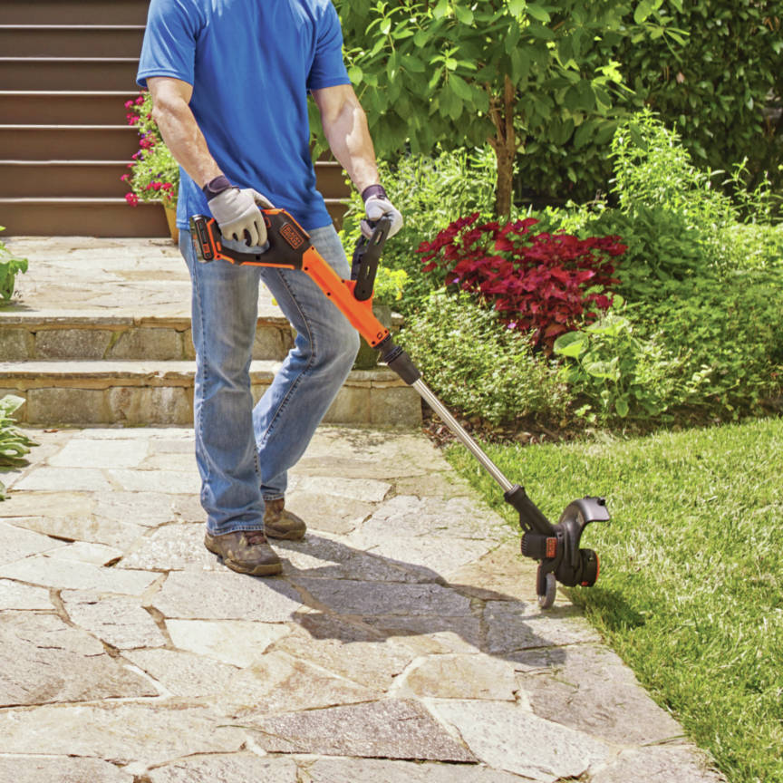 20V MAX 2-Speed 12 in. String Trimmer/Edger Kit features two speed control