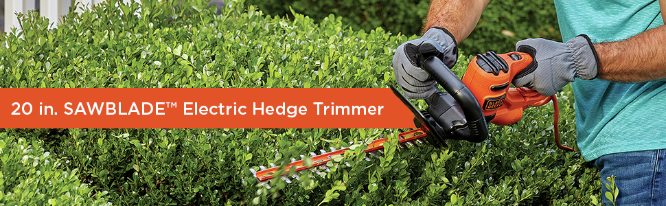 20 in Sawblade Electric hedge trimmer