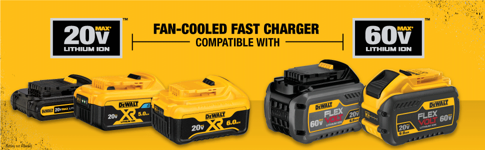 Fan-cooled fast charger comaptible with