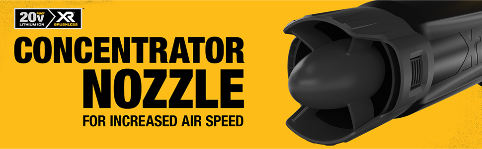 Concentrator nozzle for increased speed