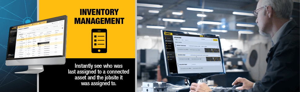 Inventory Management instantly see who was last assigned to a connected asset and the jobsite it was assigned to