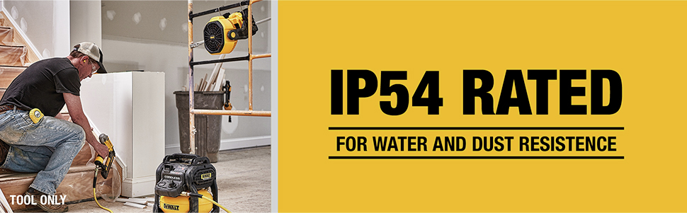 IP54 Rated for wataer and dust resistance
