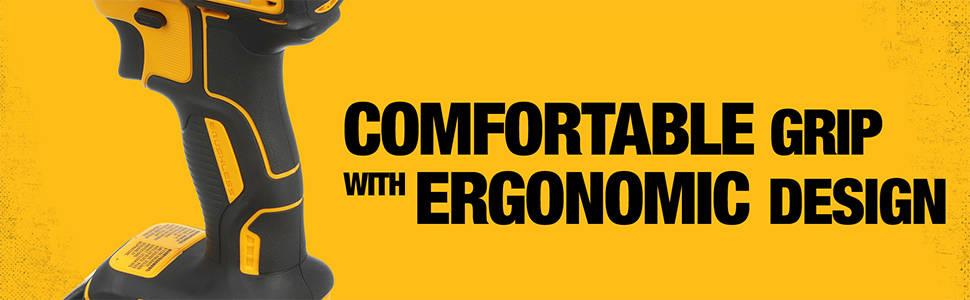Comfortable grip with ergonomic design