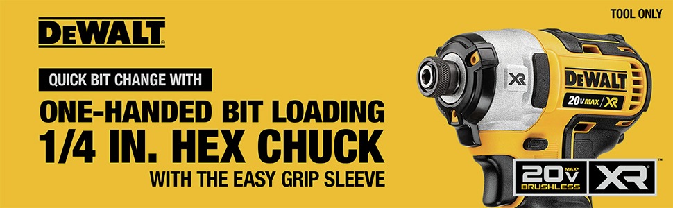 One-Handed Bit Loading 1/4 in. Hex Chuck