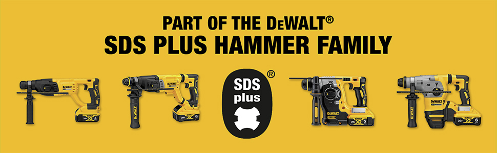 Part Of The DeWalt SDS PLUS Hammer Family