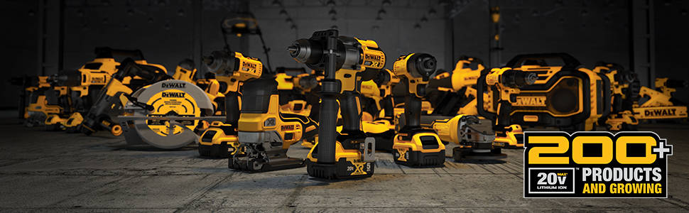 200 plus products and growing in the 20V MAX family of tools