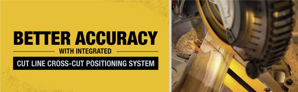 Better accuracy with integrated cut line cross-cut positioning system
