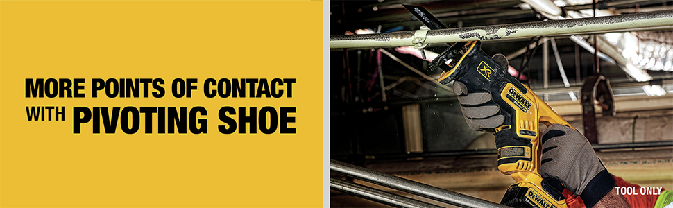 More points of contact with pivoting shoe