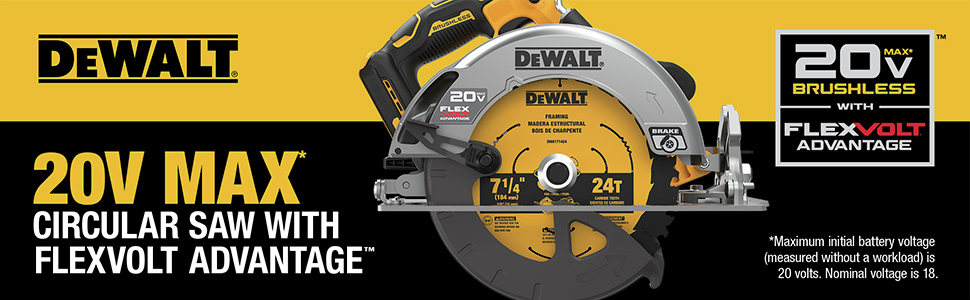 Circular Saw With FLEXVOLT ADVANTAGE