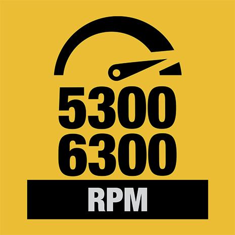 5300 - 6300 RPM