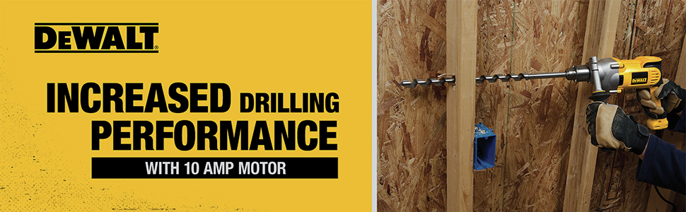 Increased drilling performance with 10 AMP motor