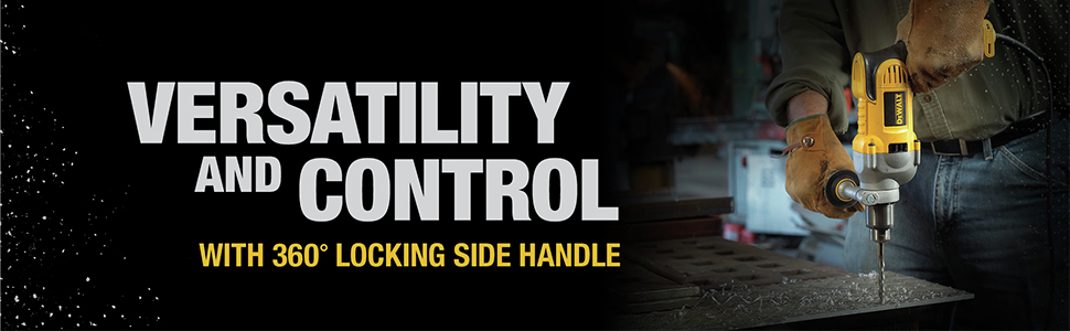 Versatility and control with 360 degree locking side handle