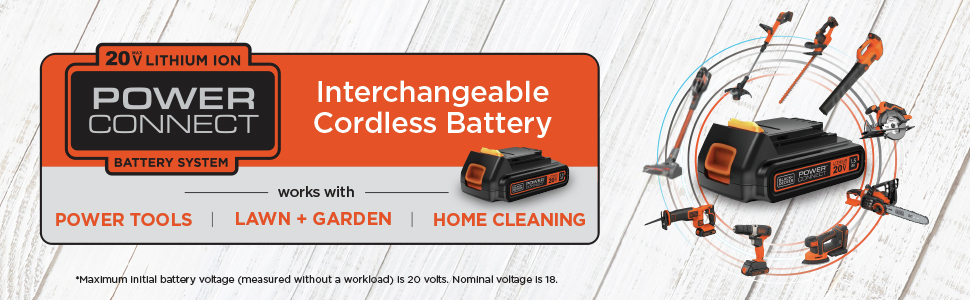 Interchangeable Cordless Battery