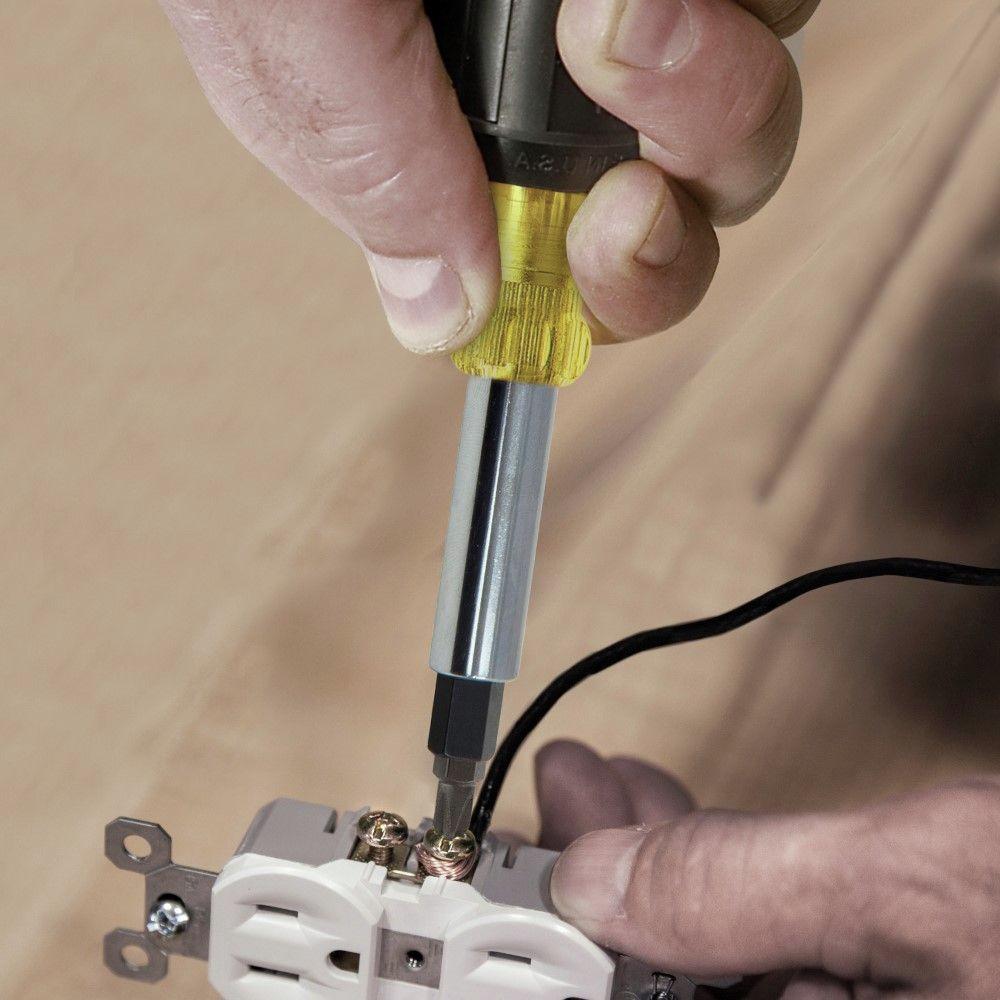 Klein Tools 32557 Heavy Duty 6-in-1 Multi-Bit Screwdriver