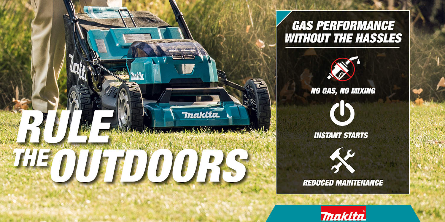 Rule the outdoors with cordless mowers with no need for gas and have reduced maintenance with instant start