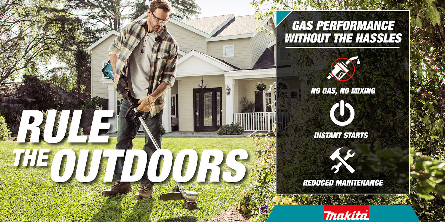 Rule the outdoors with cordless trimmers with no need for gas and have reduced maintenance with instant start
