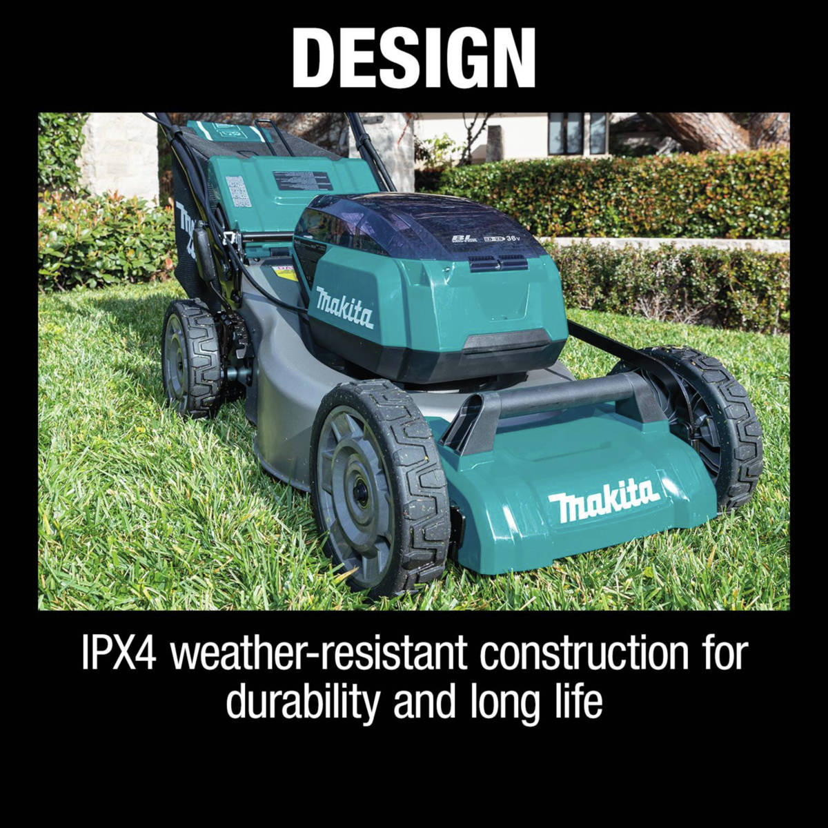18V X2 (36V) LXT Lawn Mower is self propelled with variable speed