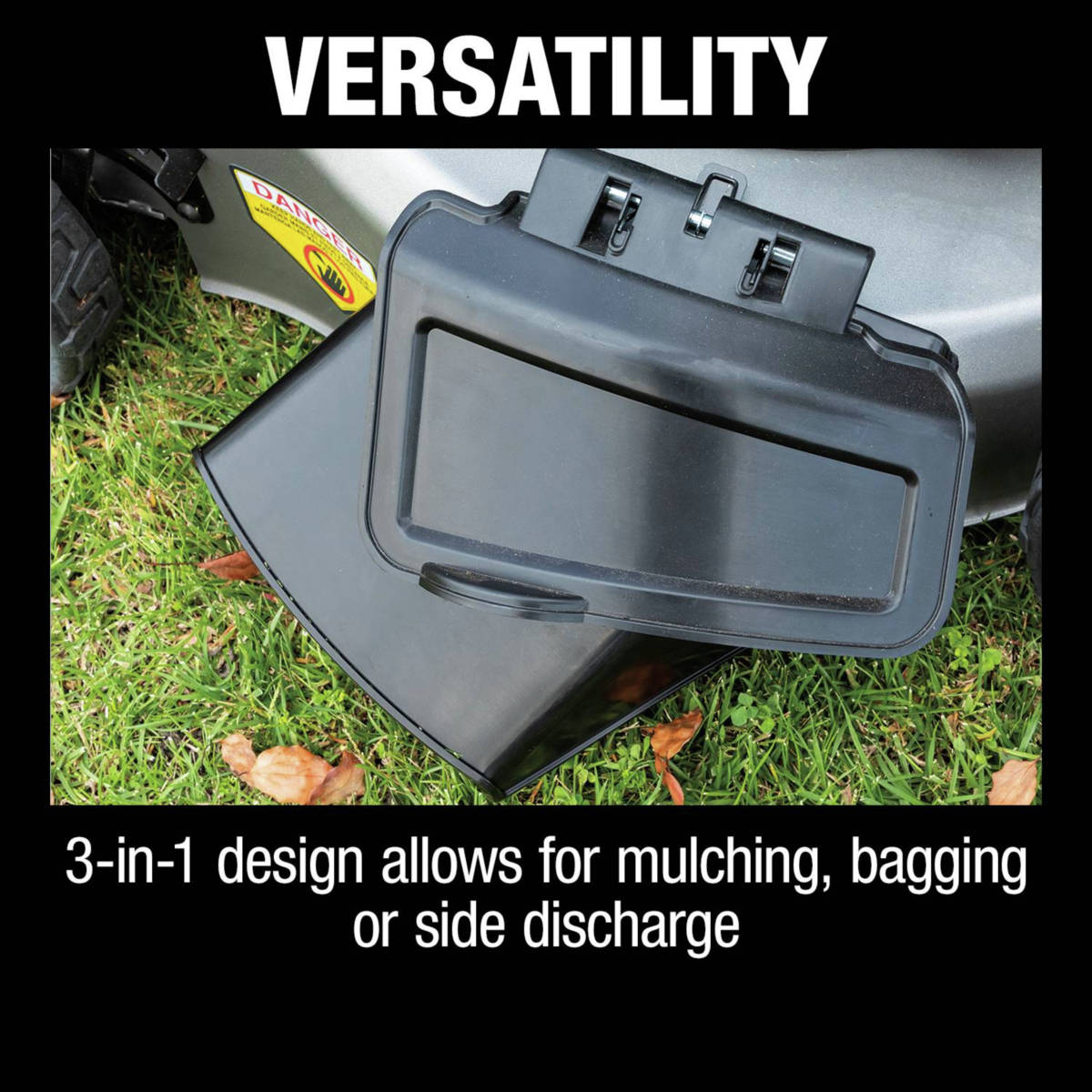 18V X2 (36V) LXT Lawn Mower 3-in-1 design allows for mulching, bagging or side discharge