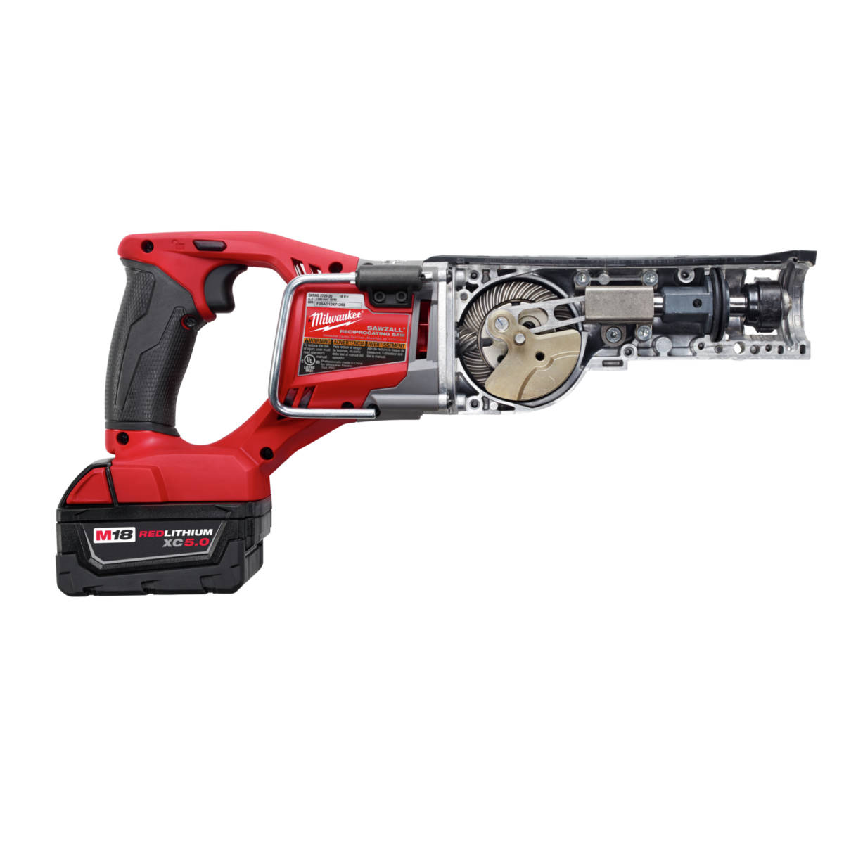 M18 FUEL Lithium-Ion Sawzall Reciprocating Saw features patented gear protecting clutch
